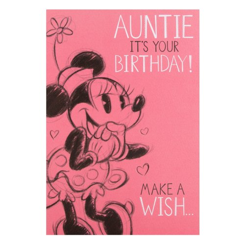 Hallmark Minnie Mouse Auntie Birthday Card Make A Wish