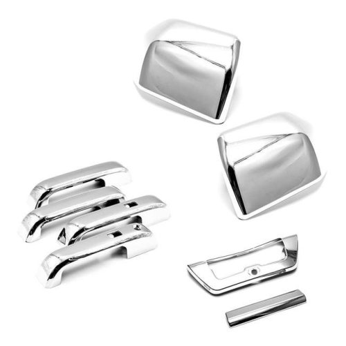 Atomsonic AMS143812301223A Chrome Combo Set Mirrors & Handles & Tailgate for 2015 2016 2017 Ford F-150