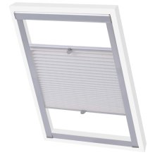 vidaXL Pleated Blinds White P08/408