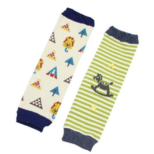 Baby Socks Baby Leggings Comfy Leg Guards,0-3 Yrs,2 Sets (Random Style)