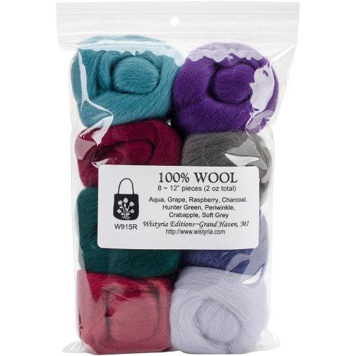 "Wistyria Editions Wool Roving 12"" .25oz 8/Pkg-Vintage"