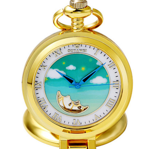 7cfcc5df3 OUYAWEI P11 Sky Pattern Mechanical Pocket Watches Cute Pocket Fob Watch  Retro Pendant Pocket Watch on OnBuy