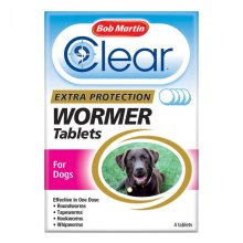(4 Tablets) Bob Martin Clear 3-in-1 Dog Wormer Tablets | Dog Worming Tablets