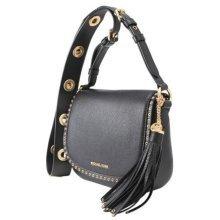 Michael Kors Brooklyn Medium Leather Saddlebag - Black - 30F6ABNM8L-001