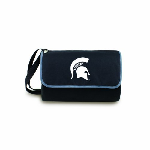 NCAA Michigan State Spartans Outdoor Picnic Blanket Tote, Black