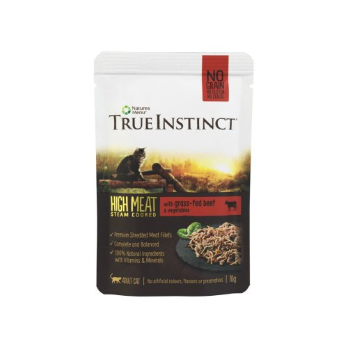 True Instinct Selected Beef Fillets For Adult For Cats 8x70g