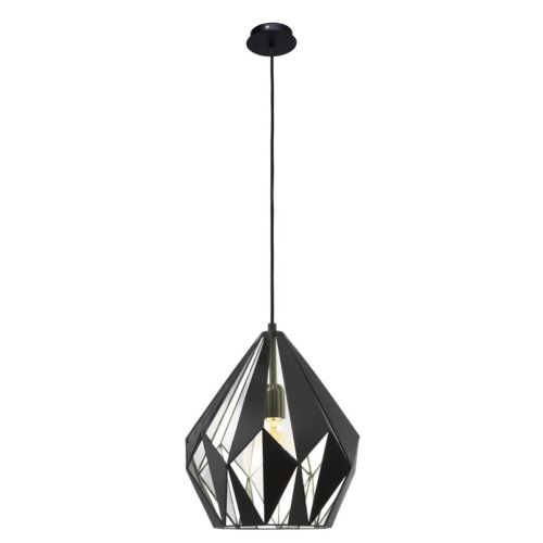 EGLO Pendant Lamp Carlton 1 Black Silver 49255
