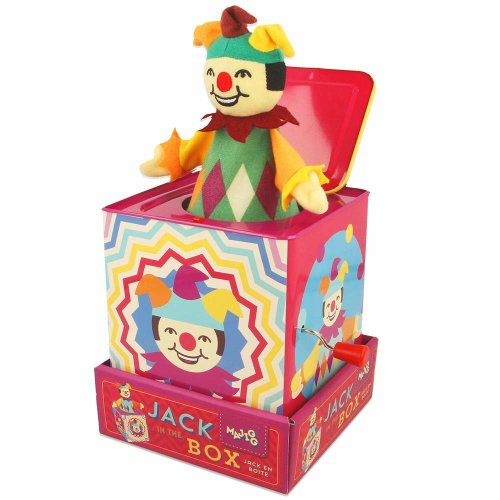 Majigg Jester Jack in The Box, Traditional Musical Wind up Toy