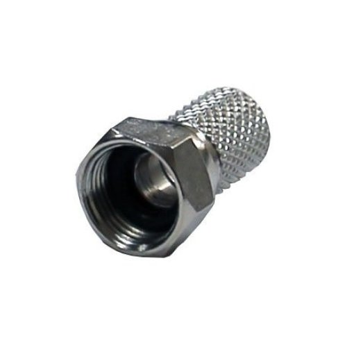 electrosmart® Screw on F Plug Connectors for Satellite & Cable TV - Internal Diameter 6.4mm fits most makes of RG6 / CT100 / WF100 / CAB(Pack of 5 )