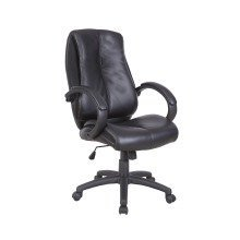 Omega Bonded Leather Managers Office Chair by Eliza Tinsley BCL/T450/BK
