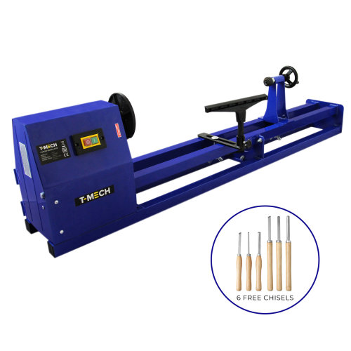 1m Wood Lathe Woodturning Variable Speed Faceplate Tailstock Chisels
