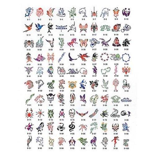Paasche SB-9 100 Designs Tattoo Stencil Book
