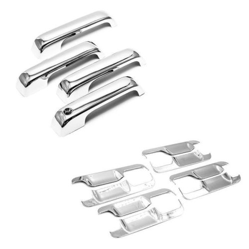 Atomsonic AMS12911439A Chrome Combo Set ABS Plastic Door Handle & Bowl Covers for 2015-2017 F-150, 2017-2018 F250HD, F350HD 4DR CREW
