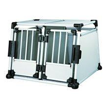 Trixie Transportbox, Doppelt, Aluminium, M–l: 93 × 64 × 88cm - x -  x trixie doppeltransportkfig 95 69 88 cm new