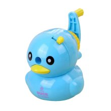Lovely Vivid Cartoon Style Hand Rotating Pencil Sharpener, Blue Duck