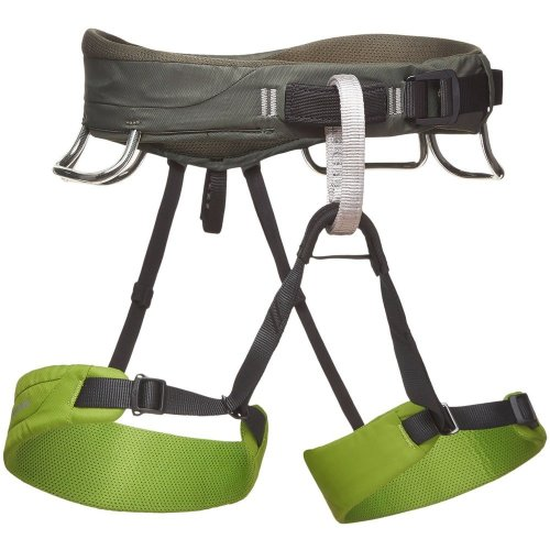 Black Diamond Mens Momentum Climbing Harness Verde (Medium)