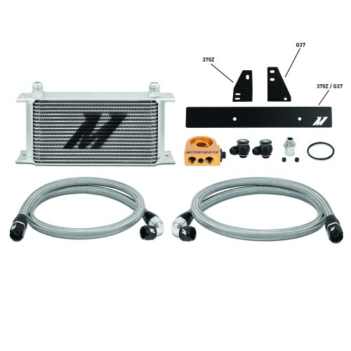 Mishimoto Nissan 370Z 2009+/Infiniti G37 2008+ Oil Cooler Silver Thermostatic