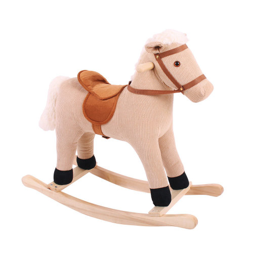 Bigjigs Toys Plush Cord Rocking Horse