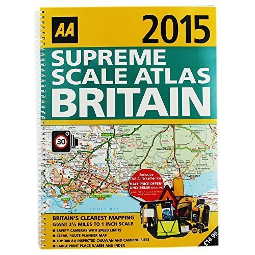 AA 2015 Supreme Scale Atlas Britain