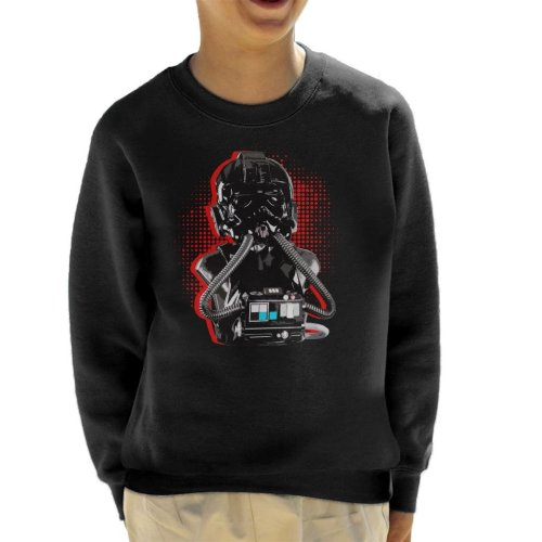 Original Stormtrooper Imperial TIE Pilot Red Burst Kid's Sweatshirt