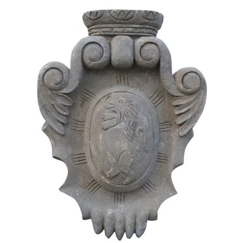 Stone Made Coat Of Arms W45xdp12xh60 Cm Sized
