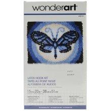 """Caron Wonderart Latch Hook Kit 15""""X20""""-Butterfly Moon"""