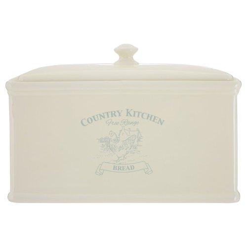 Country Kitchen Bread Crock, Dolomite, Cream