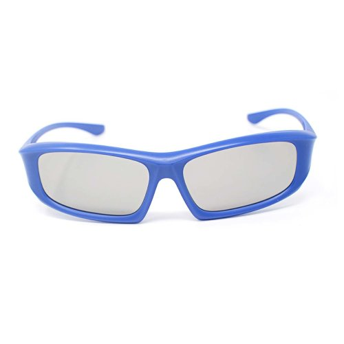 Ultra 1 to 5 Pairs of Blue Adults Passive 3D Glasses For Men Women Polorized Eyewear Wraparound Style for All Passive TVs Cinema and Projectors Such as RealdD Toshiba LG Sony Panasonic and More