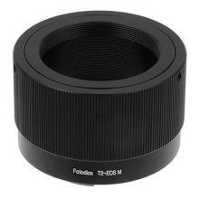 Fotodiox Lens Mount Adapter, T2/T-Mount Lens to Canon EOS-M (EF-M Mount) Mirrorless Camera, EOS M, M2, M3