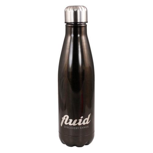Fluid 500ml Cool or Hot Stainless Steel Reusable Water Bottle Haematite