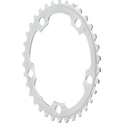 Shimano Tiagra 4550 34t 110mm 9 Speed Chainring Silver