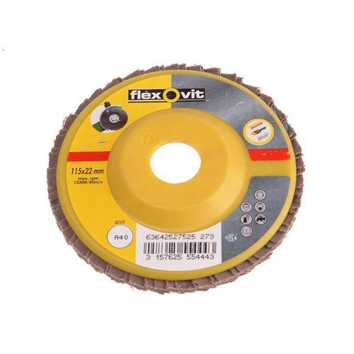 Flexovit 63642527530 Flap Disc For Angle Grinders 125mm 80g Pack of 1