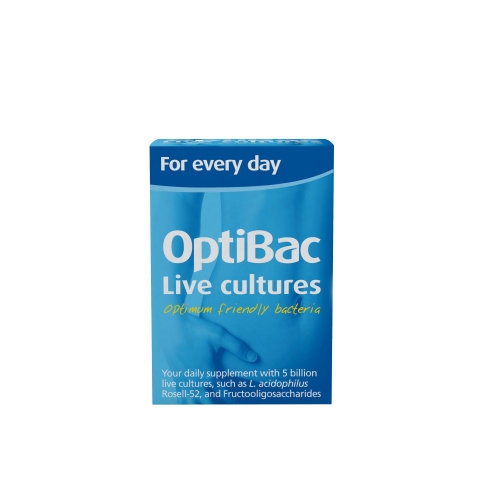 OptiBac Probiotics 'For every day', Pack of 30 Capsules