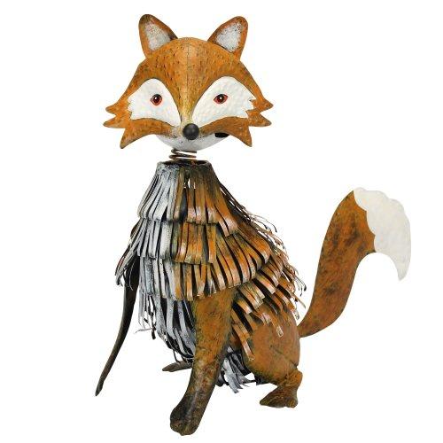 Nodding Metal Fox Garden Ornament