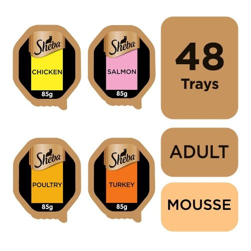 Sheba Finesse Cat Trays Mixed Collection In Mousse 12x85g (Pack of 4)