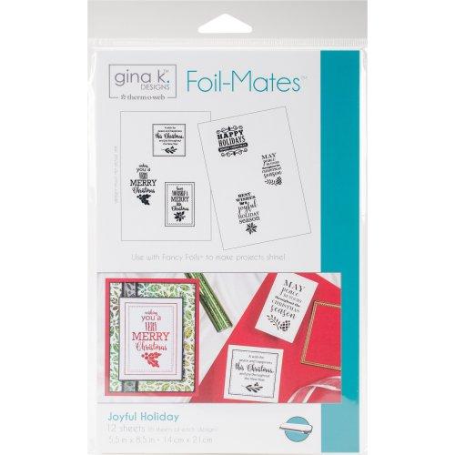 "Gina K Designs Foil-Mates Background 5.5""X8.5"" 10/Pkg-Joyful Holiday"