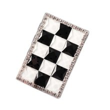 Rechargeable Lighter Stylish Rhinestone Windproof Cigarette Lighters with USB, #07