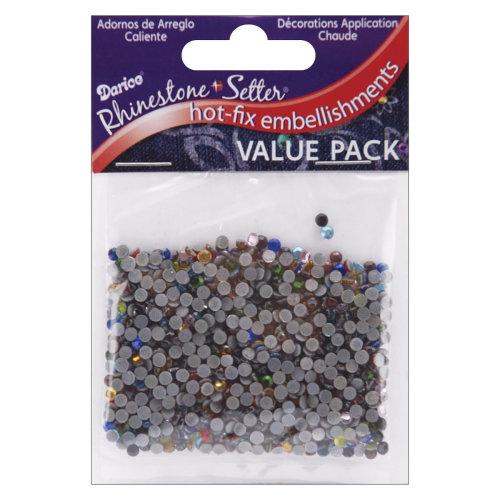 Rhinestone Setter Hot-Fix Glass Stones 3mm 1,000/Pkg-Multi