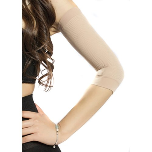 2951485fc07e5 HugeStore Women Ladies Compression Arm Slimming Sleeve Arm Shaper Shapewear  Arm Slimmer Nude