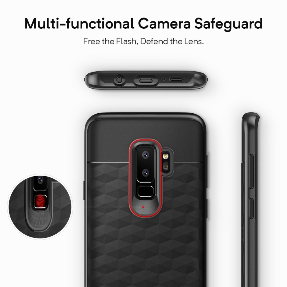 huge discount fde85 49041 Caseology Galaxy S9 Plus Case, [Parallax Series] Slim Protective Dual Layer  Textured Cover Secure Grip Geometric Design for Samsung Galaxy S9 Plus...