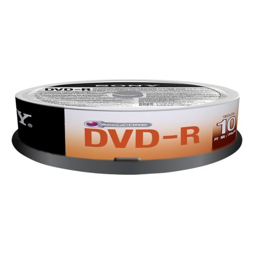 Sony 10DMR47SP DVD-R 4,7GB 16x Speed, 120Minutes Spindle Pack of 10