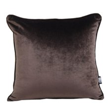 Nice Modern Home Furnishing Solid Colored Suede Sofa Pillow--Dark Brown
