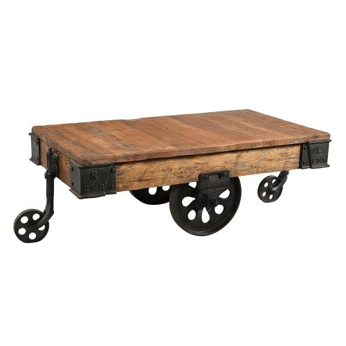 Trolley Coffee Table.Iron Trolley Coffee Table