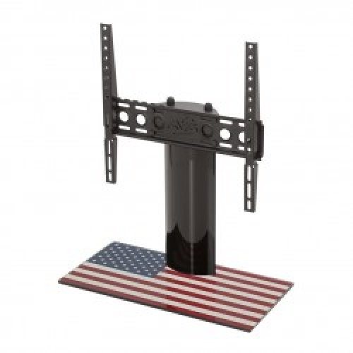 "King Table Top Base Pedestal Stand with Universal Bracket and Stars & Stripes United States of America USA Flag by TV Furniture Direct (12"" - 55"")"