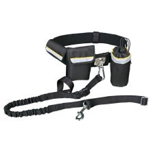 TRIXIE Dog Waist Belt with Leash Black 1275