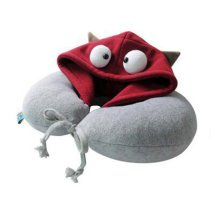 Creative Comfortable Neck Pillow Cute U-Shape Pillow Neck Protector with Hat, A