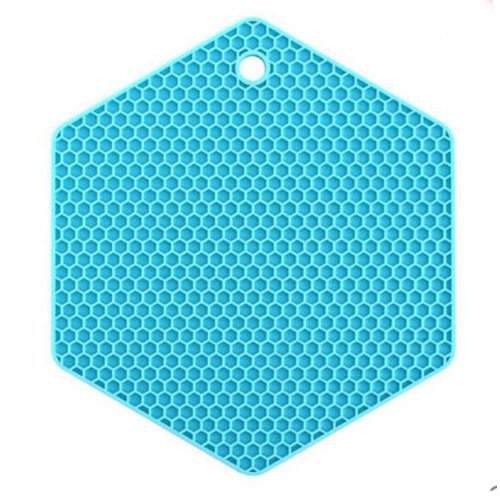 Set of 3 Lovely Blue Durable Nonslip Pot Holders Insulation Mats Placemats