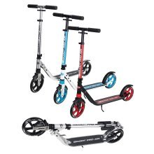 Ultimate iScoot© Air Chrome Light Weight Adult City Push Kick Scooter with Large 200MM Wheels, City Comfort Suspension, Kick Stand, Mud / Rain Guards