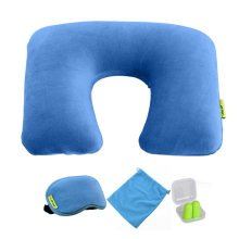 Comfortable Neck Pillow Travel Pillow With Sleep Mask And  Earplugs   A