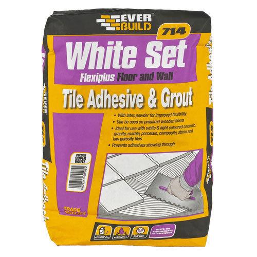 Everbuild 714 White Set Flexiplus 20kg